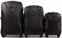 518, Luggage 3 sets (L,M,S) Wings, Black