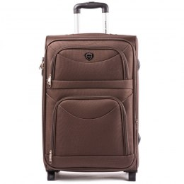 6802(2), Large soft travel suitcase 2 wheels Wings L, Coffee