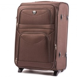6802(2), Middle soft travel suitcase 2 wheels Wings M, Coffee