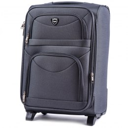 6802(2), Cabin soft travel suitcase 2 wheels Wings S, Dark Grey