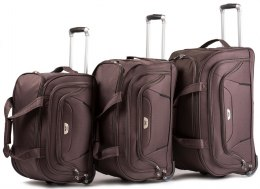 C1055, A set of 3 travel bags Wings, Coffee