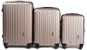 2011, Luggage 3 sets (L,M,S) Wings, Champagne