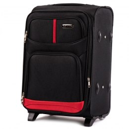 206(2), Cabin soft travel suitcase 2 wheels Wings S, Black