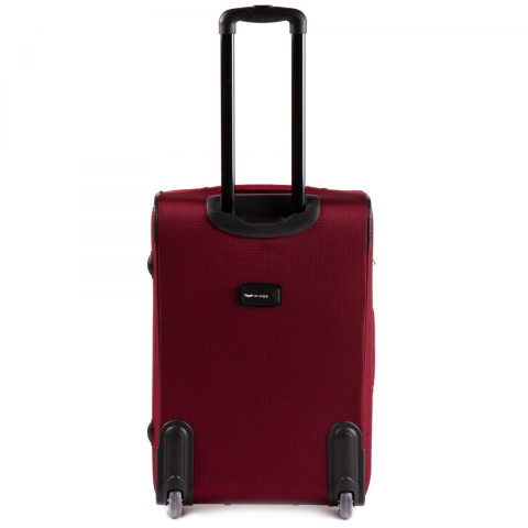 206(2), Middle soft travel suitcase 2 wheels Wings M, Double red