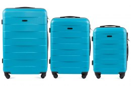 401, Luggage 3 sets (L,M,S) Wings, Cyan