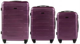 401, Luggage 3 sets (L,M,S) Wings, Dark purple