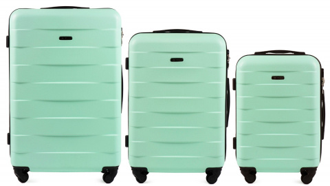 401, Luggage 3 sets (L,M,S) Wings, Light green