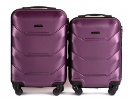 147, Luggage 2 sets (S,XS) Wings, Dark purple