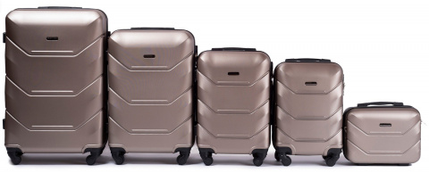 147, Luggage 5 sets (L,M,S,XS,BC) Wings, Champagne