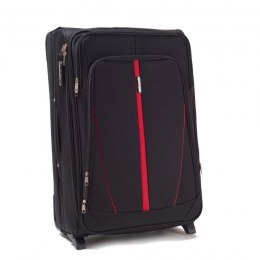 1706, Large soft travel suitcase 2 wheels Wings L, Black