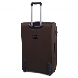 1706, Large soft travel suitcase 2 wheels Wings L, Coffee