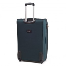 1706, Large soft travel suitcase 2 wheels Wings L, Dark green