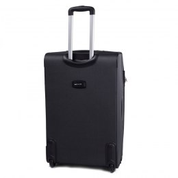 1706, Large soft travel suitcase 2 wheels Wings L, Dark grey