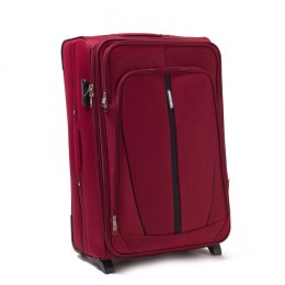 1706, Large soft travel suitcase 2 wheels Wings L, Double red
