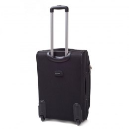 1706(2), Middle soft travel suitcase 2 wheels Wings M, Black