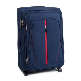 1706(2), Middle soft travel suitcase 2 wheels Wings M, Blue
