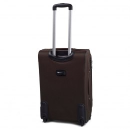 1706(2), Middle soft travel suitcase 2 wheels Wings M, Coffee