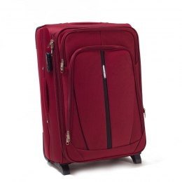 1706(2), Middle soft travel suitcase 2 wheels Wings M, Double Red