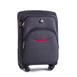 1708(4), Cabin soft travel suitcase 4 wheels Wings S, Dark grey