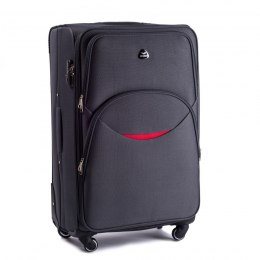 1708(4), Large soft travel suitcase 4 wheels Wings L, Dark grey