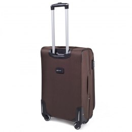1708(4), Middle soft travel suitcase 4 wheels Wings M, Coffee