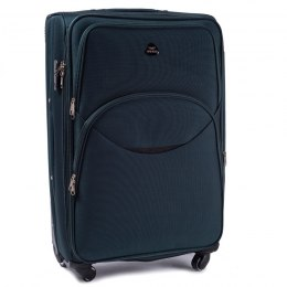 1708(4), Middle soft travel suitcase 4 wheels Wings M, Dark green