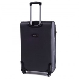 1708(4), Middle soft travel suitcase 4 wheels Wings M, Dark grey