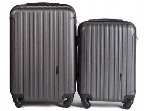2011, Luggage 2 sets (S,XS) Wings, Dark grey