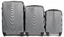 304, Luggage 3 sets (L,M,S) Wings, Silver