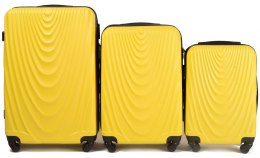 304, Luggage 3 sets (L,M,S) Wings, Yellow