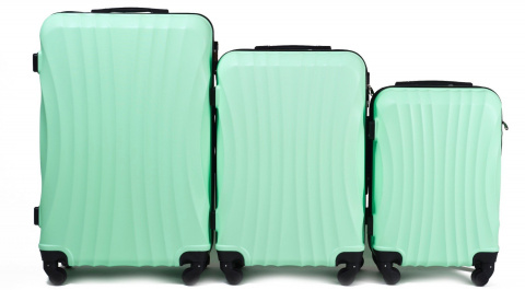 159, Luggage 3 sets (L,M,S) Wings, Light green
