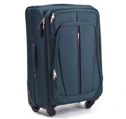 1706, Middle soft travel suitcase 4 wheels Wings M, Dark green