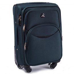 1708(4), Cabin soft travel suitcase 4 wheels Wings S, Dark green