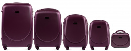 K310, Luggage 5 sets (L,M,S,XS) Wings, Dark purple
