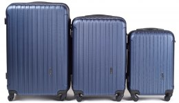 2011, Luggage 3 sets (L,M,S) Wings, Blue