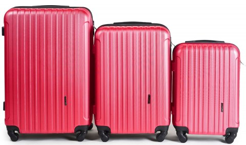 2011, Luggage 3 sets (L,M,S) Wings, Rose red