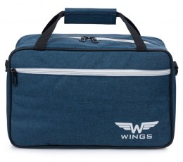 TB01, Shoulder bag Wings, Blue