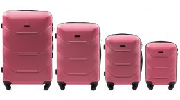 147, Luggage 4 sets (L,M,S,XS) Wings, Rose red