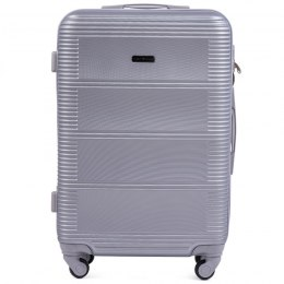 203, Large travel suitcase Wings L, Silver