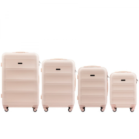 203, Luggage 4 sets (L,M,S,XS) Wings, Dirty white