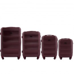 203, Luggage 4 sets (L,M,S,XS) Wings, Double red