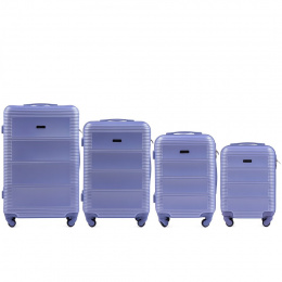 203, Luggage 4 sets (L,M,S,XS) Wings, Light purple