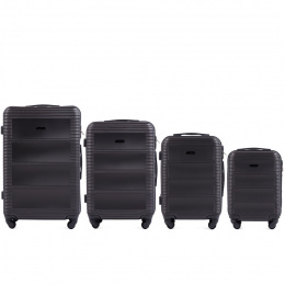 203, Luggage 4 sets (L,M,S,XS) Wings, Dark grey