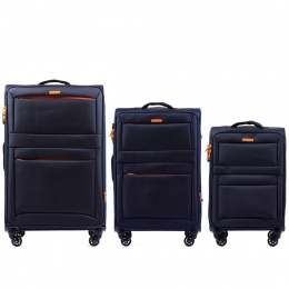 2861, Sets of 3 suitcases Wings 4 wheels L,M,S, Blue