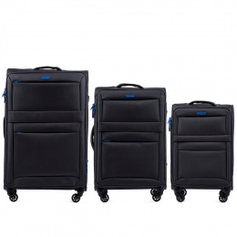 2861, Sets of 3 suitcases Super light Wings 4 wheels L,M,S, Dark grey