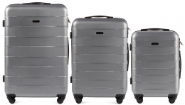 401, Luggage 3 sets (L,M,S) Wings, Silver