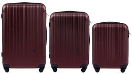 2011, Luggage 3 sets (L,M,S) Wings, Dark red