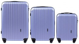 2011, Luggage 3 sets (L,M,S) Wings, Light purple