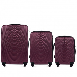 304, Luggage 3 sets (L,M,S) Wings, Burgundy