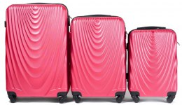 304, Luggage 3 sets (L,M,S) Wings, Rose red
